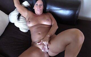 Grotesque tanned MILF incredible POV sex