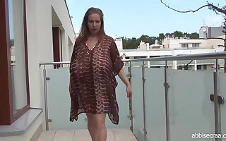 Abbi Secraa is a nasty woman with Cyclopean tits who likes posing and teasing on cam