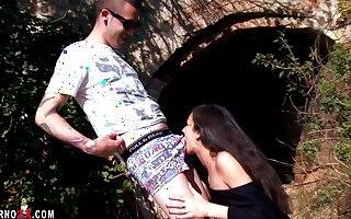 Samia Christal goes with a local boy be worthwhile for some outdoor naughty fun.