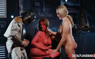 Hot beauties share their weird role play in a flawless XXX