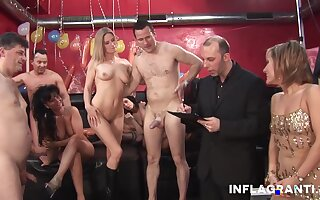 An Amazing orgy at a sexual intercourse game show