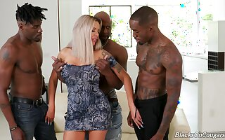 First stage shacking up in be passed on ass with one black hunks