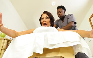 Become man screams with black hunk's huge dick inside her aggravation