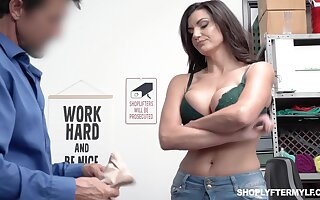 Bosomy shoplifting milf Becky Bandini gets punished right on be passed on directors