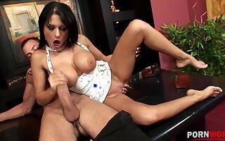 Fescennine dour Alison Star's big tits jiggle while fu